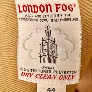 London Fog Trench Coat with Heavy Liner